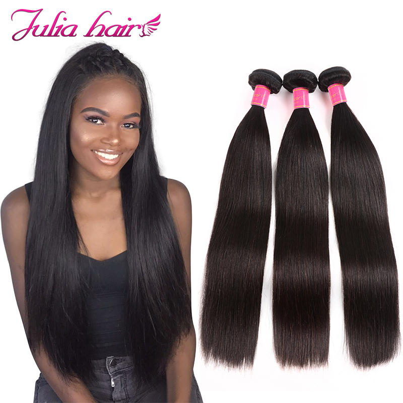 Ali Julia Hair 3 Bundles Peruvian Straight Human Hair Weave 8 To 30 Inch Bundles Natural Color Remy Hair Can Be Colored