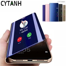 Flip Phone Case on For Samsung Galaxy A51 A71 A81 A91 A01 A21 A41 S10e Note 10 Lite M60S M80S Protective Smart Mirror View Cover