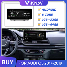 Android Car Radio for Audi Q5 2017 2018 2019 Screen Auto Audio Stereo Receiver Multimedia Player GPS Navigation Head Unit