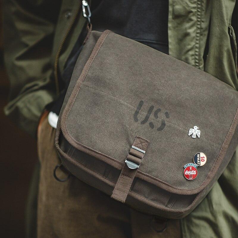 2406.55руб. 30% СКИДКА|Мужская Вощеная холщовая сумка мессенджер, рюкзак, винтажный военный тактический повседневный рюкзак через плечо|Дорожные сумки| |  - AliExpress