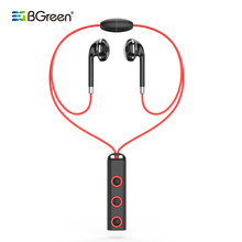 BGreen Sports Bluetooth Earphones Running Wireless Stereo Headset Yoga Fitness Magnet Attraction Earphones(China)