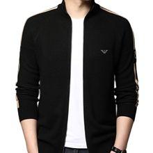 Men's Cardigan Sweater Autumn and Winter New Woolen Sweater Coat Collar Zipper Outside Sweater 2021