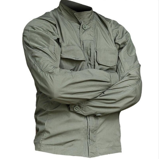 2021Tactical Long Sleeve Shirt Military Tactical Soldiers Uniform High Quality Multi-Pockets Cargo Shirts Camouflage Clothes