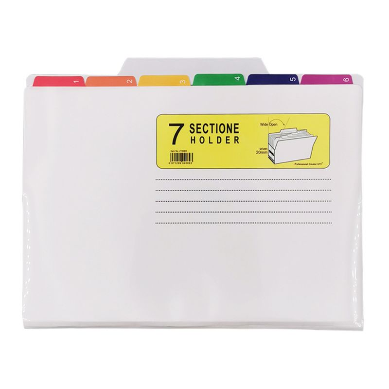 File Holder Classification Bag Color UV Print Folder Waterproof File Good Sorter C90F