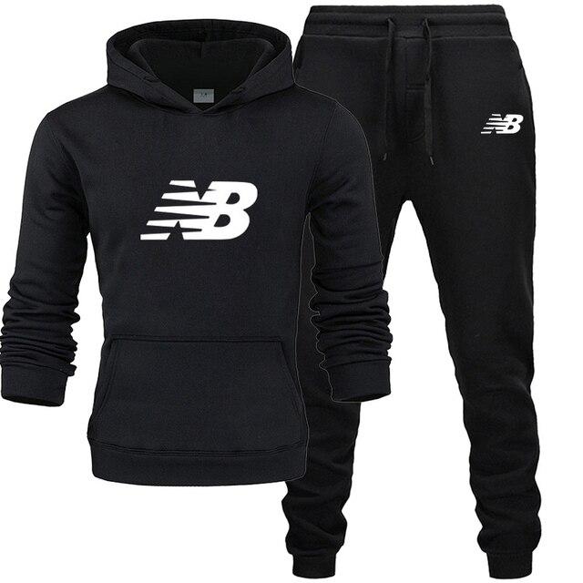 Autumn Winter Men's Sets Brand Sportswear Tracksuits 2 Piece Sets Men's Clothes Hoodies + Pants Sets Male Streetswear Coat Jacke