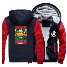 The Avengers Winter Men Thick Warm Fleece Jacket Coat Hulk Iron Man Coats Hoodies Bodywarmer Sweatshirt Outwear 2020 Sportswear(China)