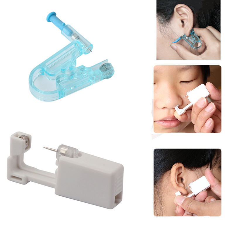 5PC Nose Stud Piercing Tool Earring Star Disposable No Pain Safe Sterile Ear Stud Piercing Gun Build In Steel Stud