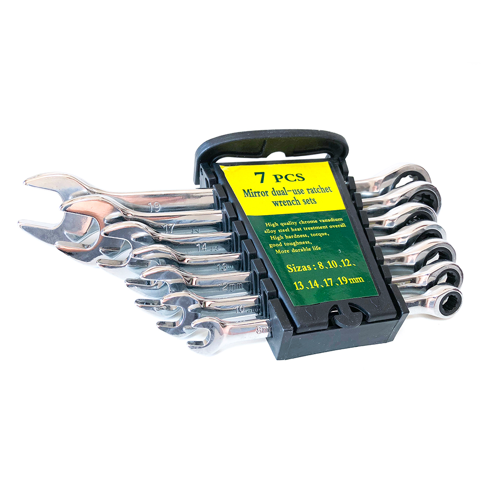 Wrenches Spanner-Hand-Tools Combination Ratcheting Car-Repair-Ring Box 8-19mm for A-Set-Of-Key
