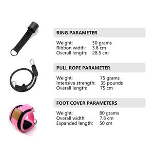 Image 5 - ROEGADYN כפול D טבעת מתכוונן 2PCS כושר קרסול משמר רצועת רגל כושר אימון הרמת ירך כבל רגל החגורה עם חבל תיק