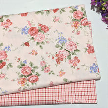 Beautiful Rose Cotton Twill Fabric 100% Cotton Fabric For bed dress Material