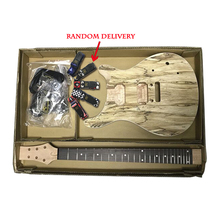 цена на Aiersi spalted Maple diy guitar set solid body PRS Electric Guitar Kit With All Hardwares