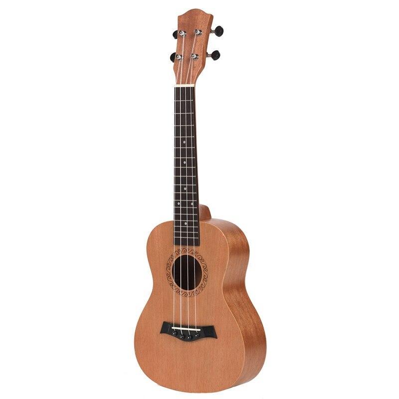 Concert Ukulele 23 Inch Uku 4 Strings Guitar Mahogany Neck For Kids Adults,No Pattern