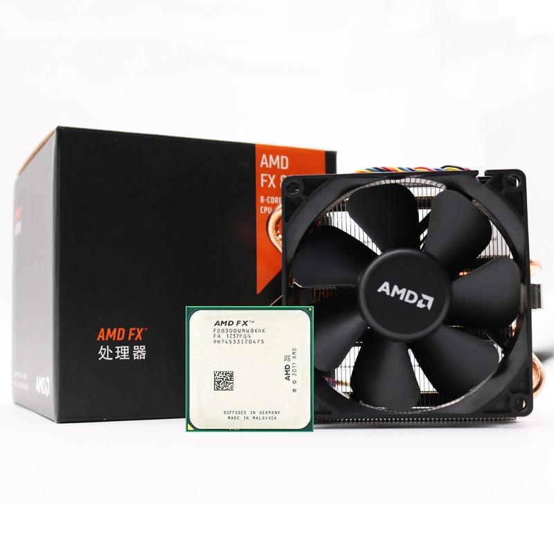 AMD FX-Series FX 8300 Socket AM3+ 95W 3.3GHz 940-pin Eight-Core Desktop Processor CPU Fx8300 Socket Am3+ Contain Cooler Fan