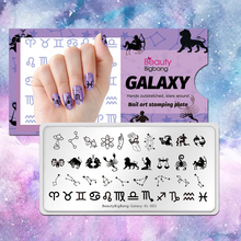 Nail-Stamping-Plates Stainless-Steel Constellation-Design Beauty Bigbang Hot Star Image