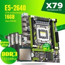 Atermiter X79 X79G Combos E5-2640 E5 2640 CPU Motherboard LGA2011 4pcs x 4GB = 16GB DDR3 PC3 10600R 10600 ECC REG RAM 1333Mhz