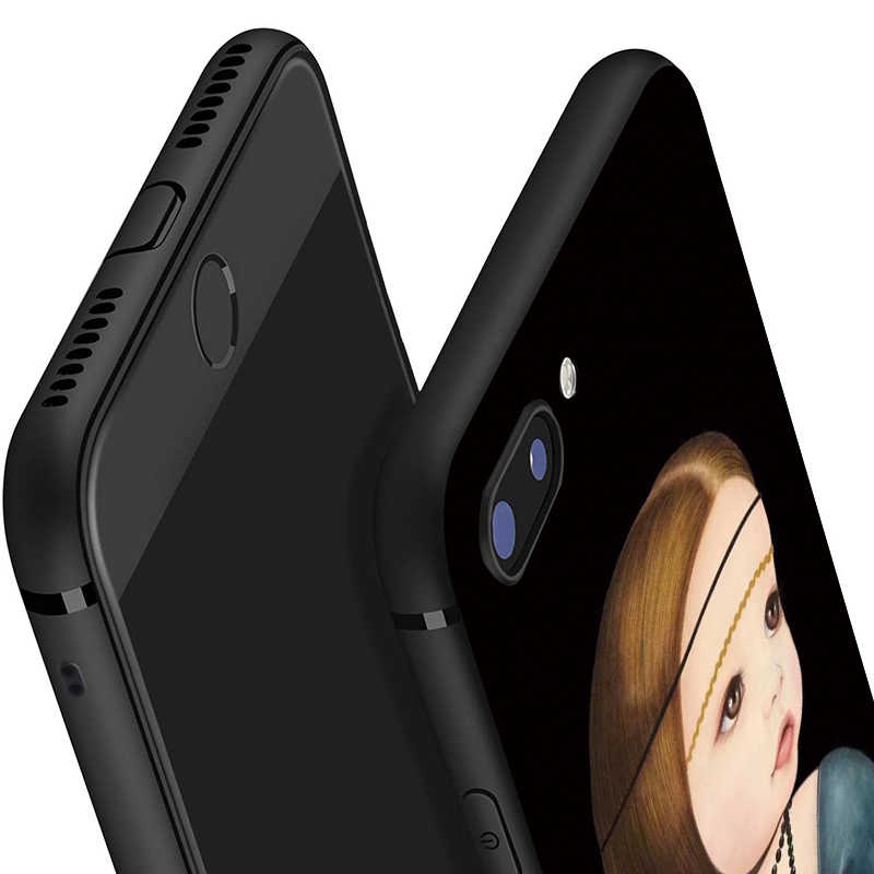 Boneka Lucu Bayi Kartun Ponsel Case untuk iPhone 11 Pro Max X XS XR 8 7 6 5 6S PLUS lembut Silicone Cover untuk Apple Perlindungan Shell