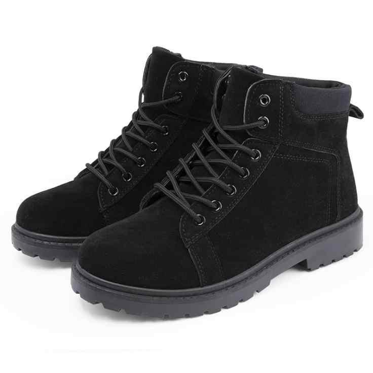 Puimentiua Mens ฤดูหนาวอังกฤษผู้ชายมาร์ตินบู๊ทส์ Retro รองเท้าน้ำรองเท้าแฟชั่นผู้ชายหิมะรองเท้าทำงาน