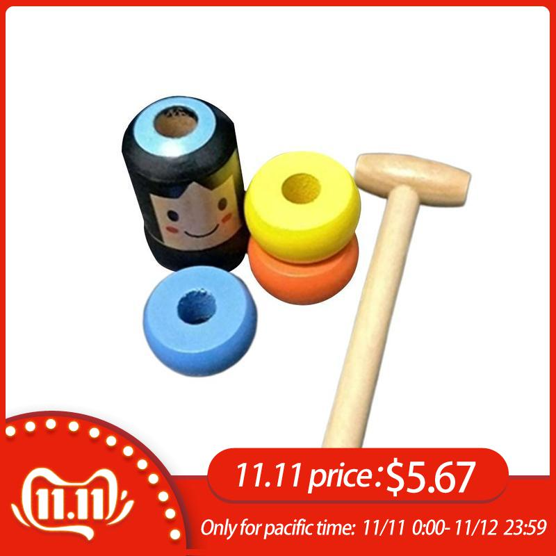 1set Immortal Daruma Unbreakable Wooden Man Magic Toy Magic Tricks Close Up Stage Magic Props Fun Toy Accessory-in Magic Tricks from Toys & Hobbies
