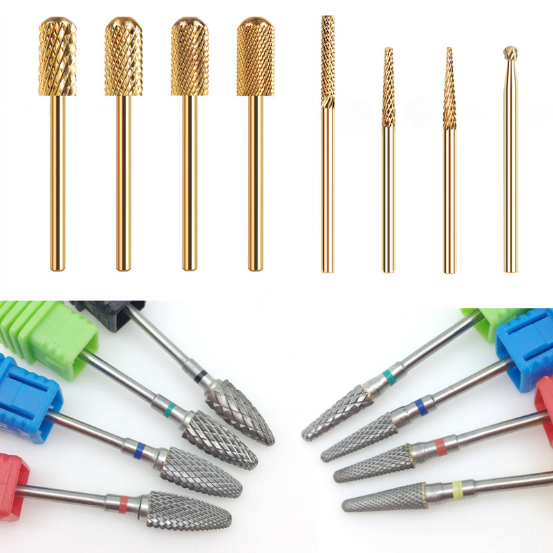 28 Type Carbide Nail Drill Bits For Electric Drill Manicure Machine Accessory Tungsten Nails Milling Cutter Nail Files Art Tools