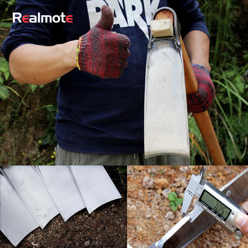 Realmote Land Reclamation And Earth Excavation Spring Steel Hoe Wide Plate Hoe Agricultural Hoe Garden Tools