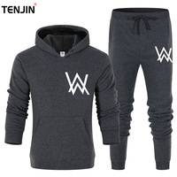 2019 Running Sets Men Sport Suits Sportswear Set Polyester Fleece Thick Gym Cycling Tracksuit Zip Pocket Jogging Suit pants suit