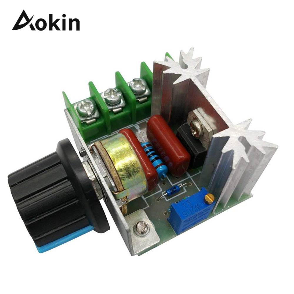 Pwm Voltage Regulator 2000w 50-220v Ac 25a Scr Motor Speed Controller Adjustable Temperature Motor Switch Module