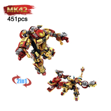 compatible LegoINGlys MK42 Armor Mechs Mark Iron Man Marvel Super heros Avengers Bricks Assemble Building Blocks Collection Toys