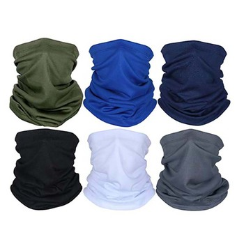 4/6 pcs Multi-Functional Solid Color Sunshade Magic Turban Fashionable And High Quality Wristband Hairband Head Scarf 1