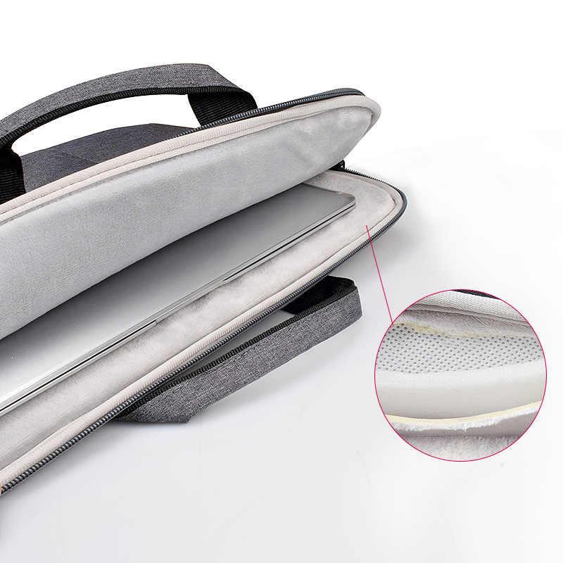 Wodoodporna torba na laptop 13.3, 15.4 cal dla Macbook Air 14/15/15.6 cal Notebook torba na macbooka Pro 15 touch bar rękaw z paskiem