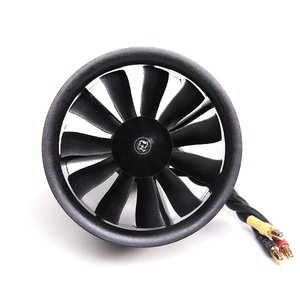 Image 2 - FMS 64mm 4S 3S 11 Blades EDF Unit With KV3150 KV3900 Brushless Motorfor RC Airplane Ducted Fan Plane