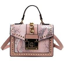 2019 Vintage Rivet Handbags Women Bags Brand Designer Cover Chain Shoulder handbags Messenger Crossbody Bags For Women handbags