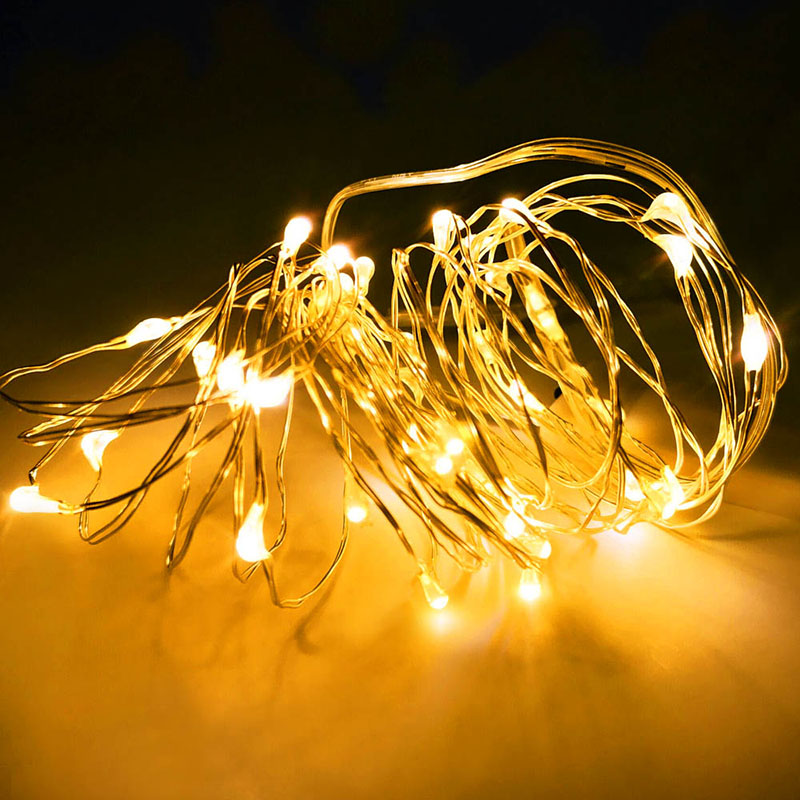 Sliver Wire LED String Lights IP65 Waterproof Flexible Rope Plastic Christmas Tree Holiday Fairy Lights Decoration Wedding Party