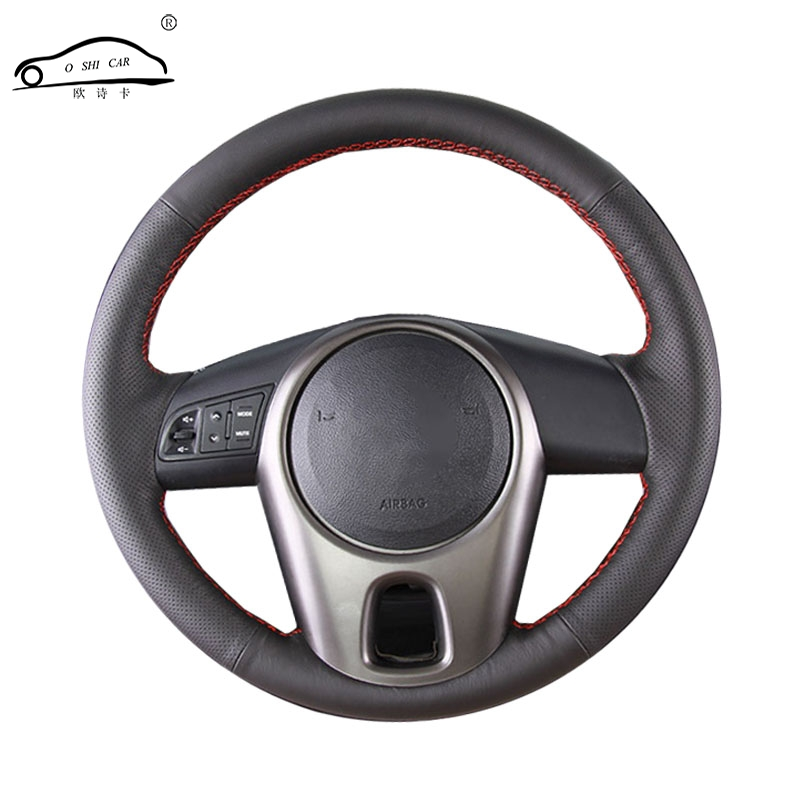 Artificial Leather car steering wheel braid For Kia Forte 2009 2014 Soul Kia Rio/Custom made automobile Steering wheel cover|steering wheel cover|wheel cover|leather car steering - title=