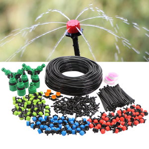 Image 1 - 5 50m Micro Drip Irrigation Watering Kit 8 Hole Adjustable Flow Dripper Atomizer Garden 4/7mm Hose Spray Misting Cooling System