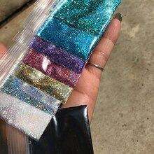 เลเซอร์0.2มม.008ขนาดสีGlitterผง,holographic Glitterสำหรับเล็บ10G One กระเป๋าโฮโลแกรมผสมสีGlitter Powder