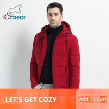 ICEbear 2019 New Mens Winter Jacket High Quality Coat Hooded Male Thicken Warm Man Apparel MWD18925I