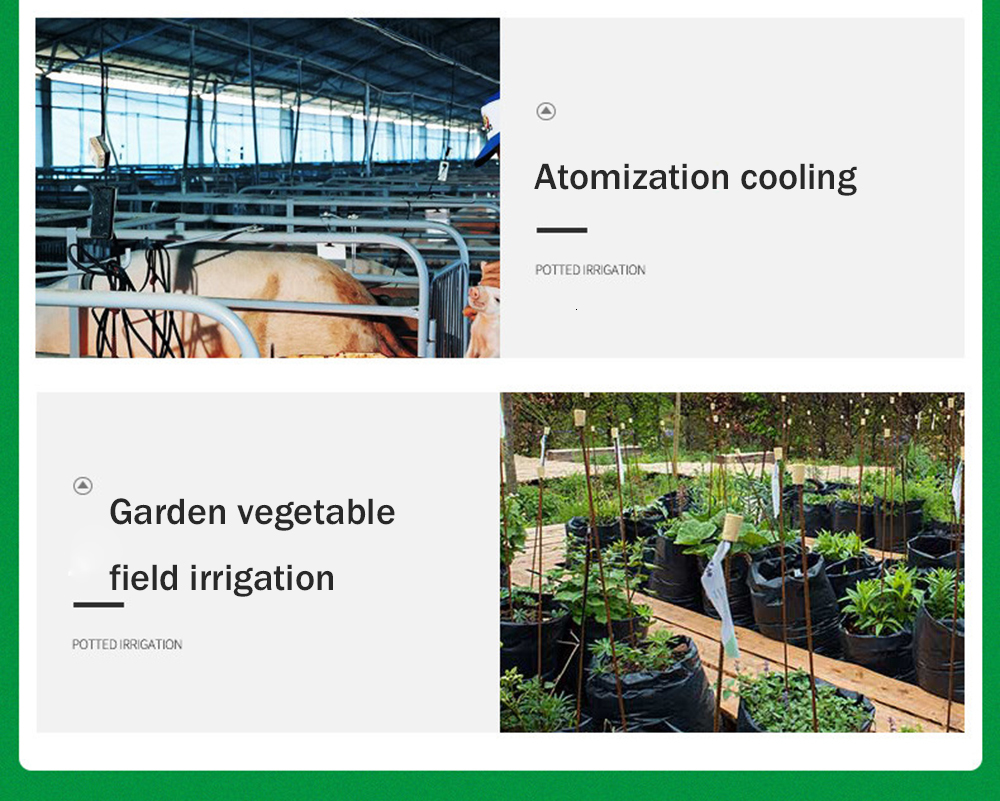 Hee2f500f657c4752bf5928641bc3ab8ai 30M Drip irrigation Automatic Garden Watering System Kit Garden Irrigation Watering Micro Drip Mist Spray Cooling System
