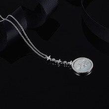 MeiBaPJ collar con colgante plata de primera ley estrella de la Luna para mujer, Gargantilla, plata esterlina 925, estilo fino, fiesta