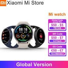 Глобальная версия Xiaomi Mi band часы GPS ГЛОНАСС крови кислородом Bluetooth 5,0 монитор сердечного ритма 5ATM водонепроницаемый Mi Смарт-часы цвет