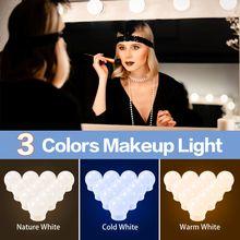 Usb 3 цвета бесконечное затемнение макияж зеркальный светильник