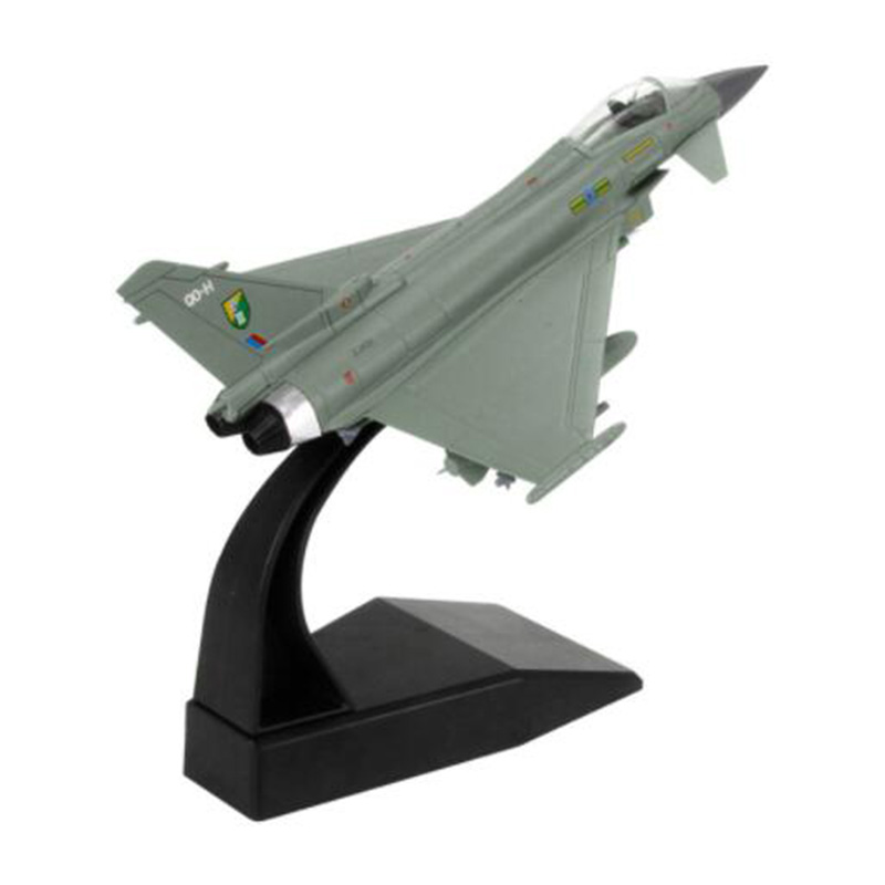 1/100 Eurofighter Typhoon Fighter Plane Military Aircraft Airplane Models Toy Adult Gift Children Toys For Display Collection