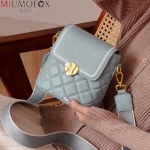 Brand Crystal Grid Bucket Bag Designer Women Handbags Genuine Leather Ladies Shoulder Messenger Bag Fashion Flap Mini Female Bag