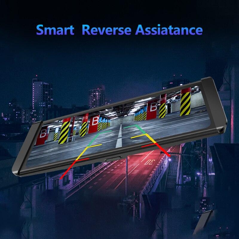 JADO Dash Cam DVR T650C Stream Rearview Mirror IPS Car DVR Video Recorder1080P HD Driving Video Dashcam Car Camera 4
