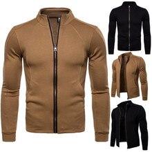 цена IceLion 2018 Spring Autumn Solid Plaid Jacket Men Zipper Cardigan Coat  Men's Cotton Bomber Jackets Fashion Casual Windbreaker онлайн в 2017 году