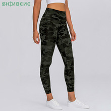 SHINBENE CLASSIC 4.0 Camo Panther Geometric Fitness 운동 레깅스 여성 Naked Feel 7/8 길이 스쿼트 증명 체육관 스포츠 스타킹