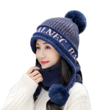 2020 вязаный короткий плюшевый шарф с капюшоном женская шапка