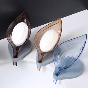 Soap-Holder Drying-Rack Bathroom-Organizer Leaf-Shape Kitchen Portable Suction-Cup