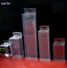 flat clear transparent pvc box with hanger long tall pvc box packaging  tall clear boxes for packaging pencil fans