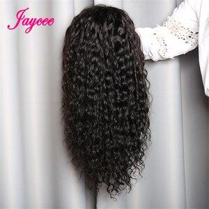 Image 4 - Jaycee Water Wave Human Hair Wigs 150% Density Lace Frontal Wigs For Women Water Wave Lace Front Human Hair Wigs Brazilian Wig