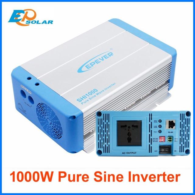 EPever Voltage Inverter 1000W 24V/48V DC Pure Sine Vawe Convert 220V230V AC Intelligent Voltage Converter Universal plug SHI1000